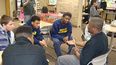 Speaking with youth juvenile detention center